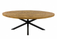 KICK LUKE Industrial Oval Dining Table - 180cm