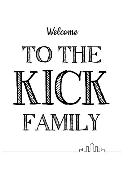Stoel Banner Kick Family