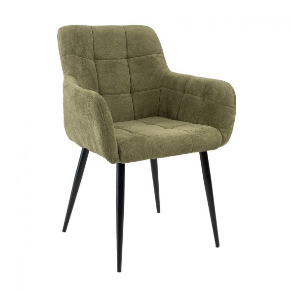 Kick Rev Dining Chair - Texture Olive Green