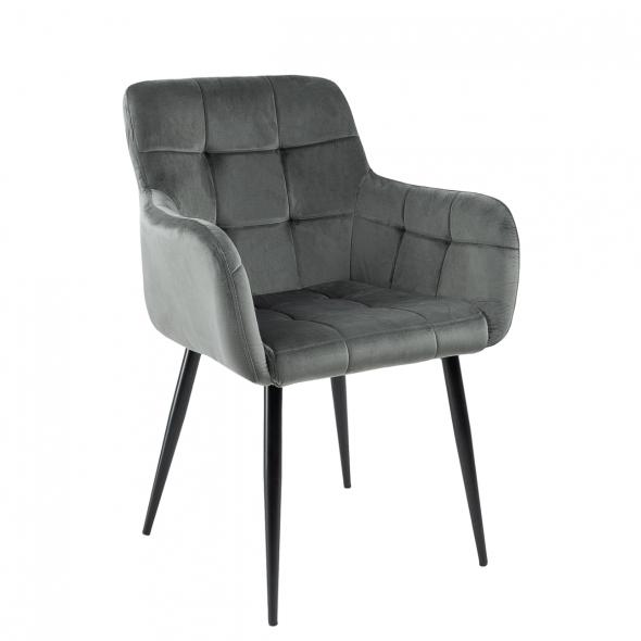 Kick Rev Dining Chair - Velvet Dark Grey