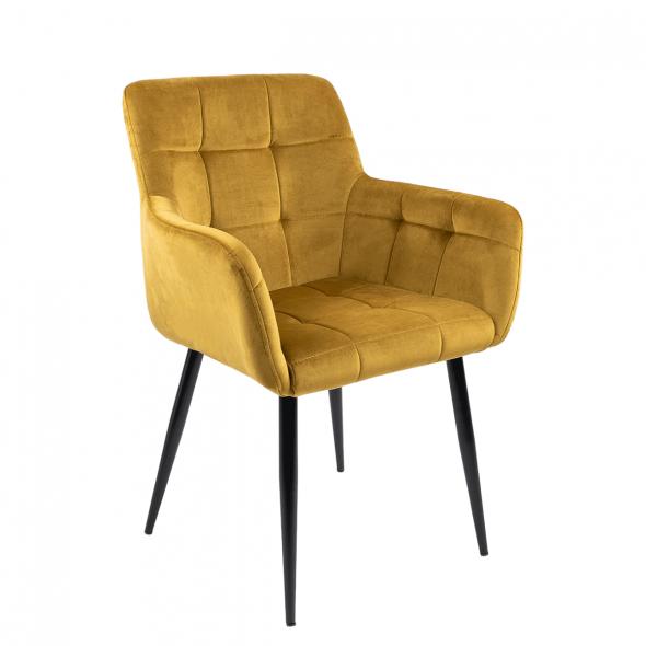 Kick Rev Dining Chair - Velvet Gold