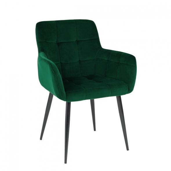 Kick Rev Dining Chair - Velvet Dark Green