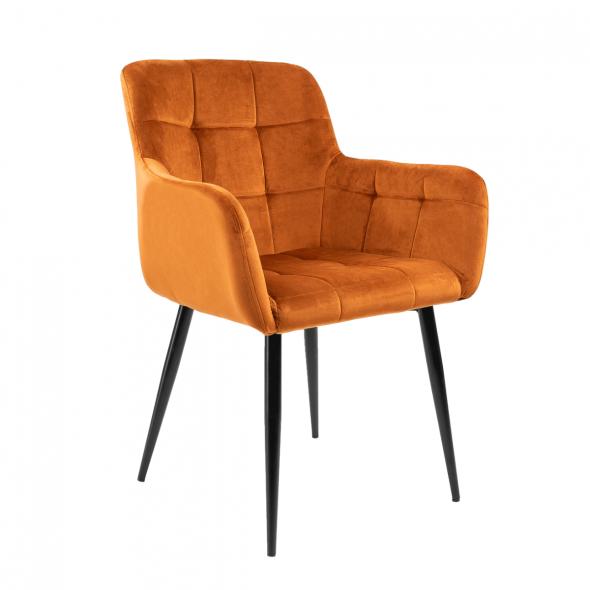 Kick Rev Dining Chair - Velvet Orange