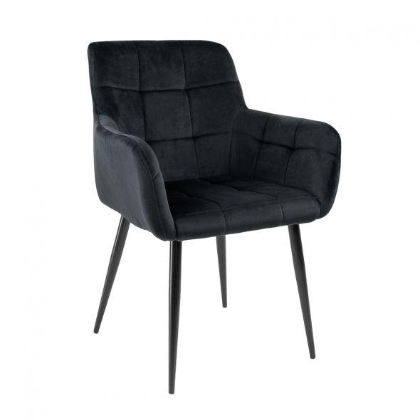 Kick Rev Dining Chair - Velvet Black