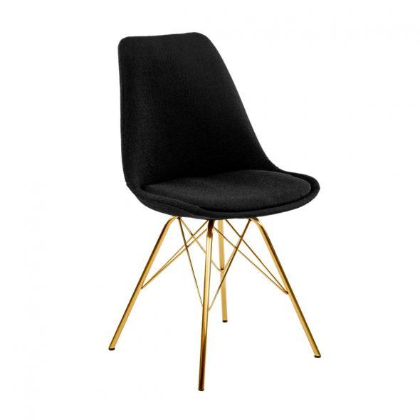 Kick Jens Bucket Chair Black - Gold Frame