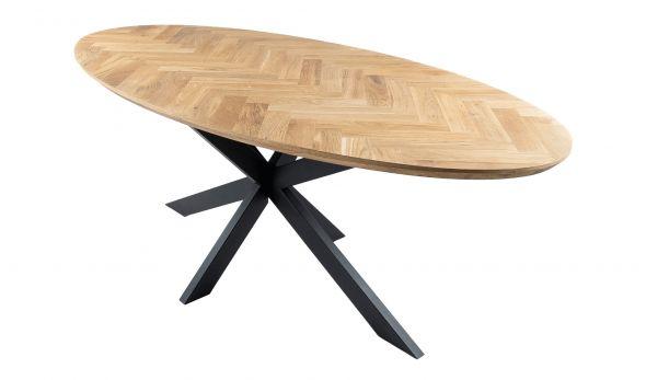 Kick Fishbone Oak Dining Table - Oval 210 cm